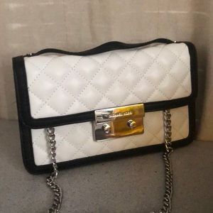 Authentic Mk chain quilted body bag